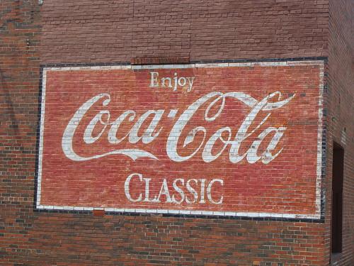 Coca cola wall mural birmingham al ensley community for Alabama wall mural