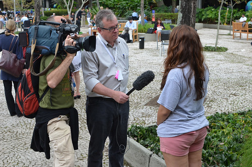 Media attention for youth activists at Rio+20 | by youthpolicy.org