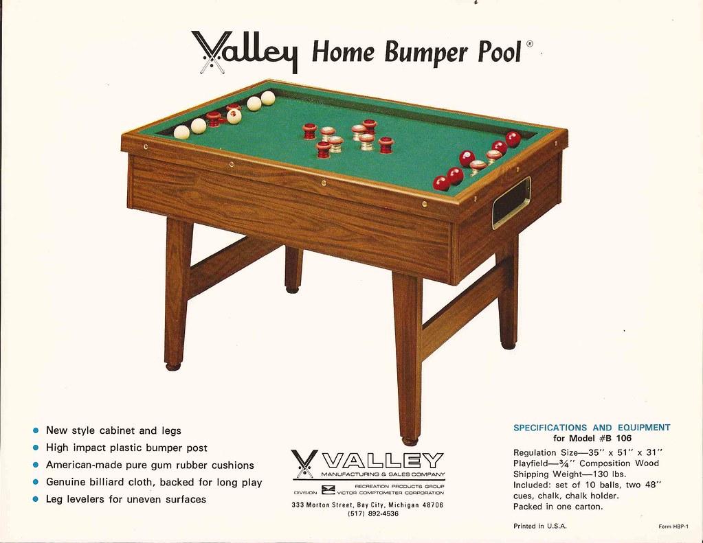 ... B 106 Bumper Pool   By Valley Dynamo Museum