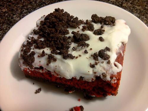 Red Velvet Cookie Bars Using Cake Mix