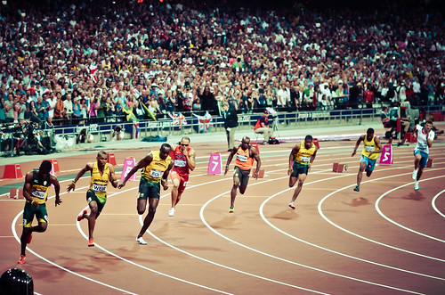 London 2012 - Men's 200m final - Start | by Alexandre Moreau | Photography