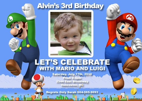 Super mario brothers custom birthday invitation printable flickr super mario brothers custom birthday invitation by cutiepie birthday filmwisefo