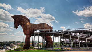 Trojan Horse at the Mt Olympus Theme Park, Wisconsin Dells, WI | by mac9001