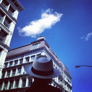 If I were what I was, I would try to get that corner loft with a huge skylight. Now I am a Upper West-Sider, just checking out the old streets. That's okay. Look at that cloud! It looks like it's alive…with a mind. yoko | by Yoko Ono official