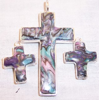 Abalone crosses | by Patty Barnes Polymer Designs