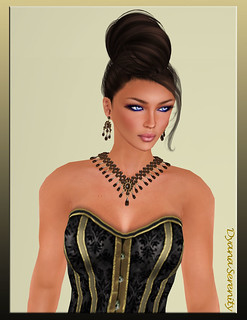 Vrtual Impressions Francesca in Brown Pearls & Quattz | by Dyana Serenity Blogger Second Life Busy RL <3