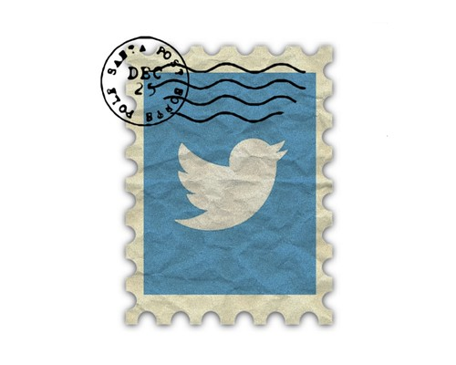 Vintage Twitter Logo Poster | by thethreesisters