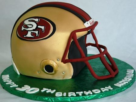San Francisco 49ers Football Helmet 30th Birthday Cake Kri Flickr