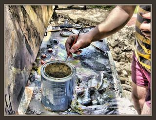 Paleta pintor colores pintando cuadros oleos pintura terra - Pintores en terrassa ...