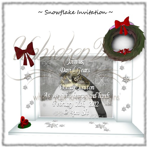 snowflake invite | by isabella seibert