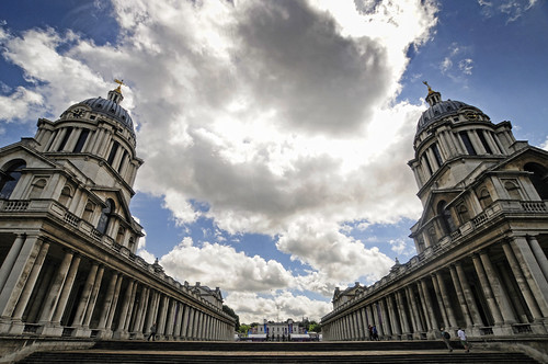 UK - London - Greenwich - Old Royal Naval College - Dramatic vista | by Darrell Godliman