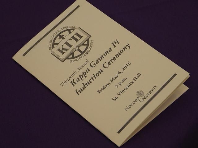 Kappa Gamma Pi Induction | 05.06.16