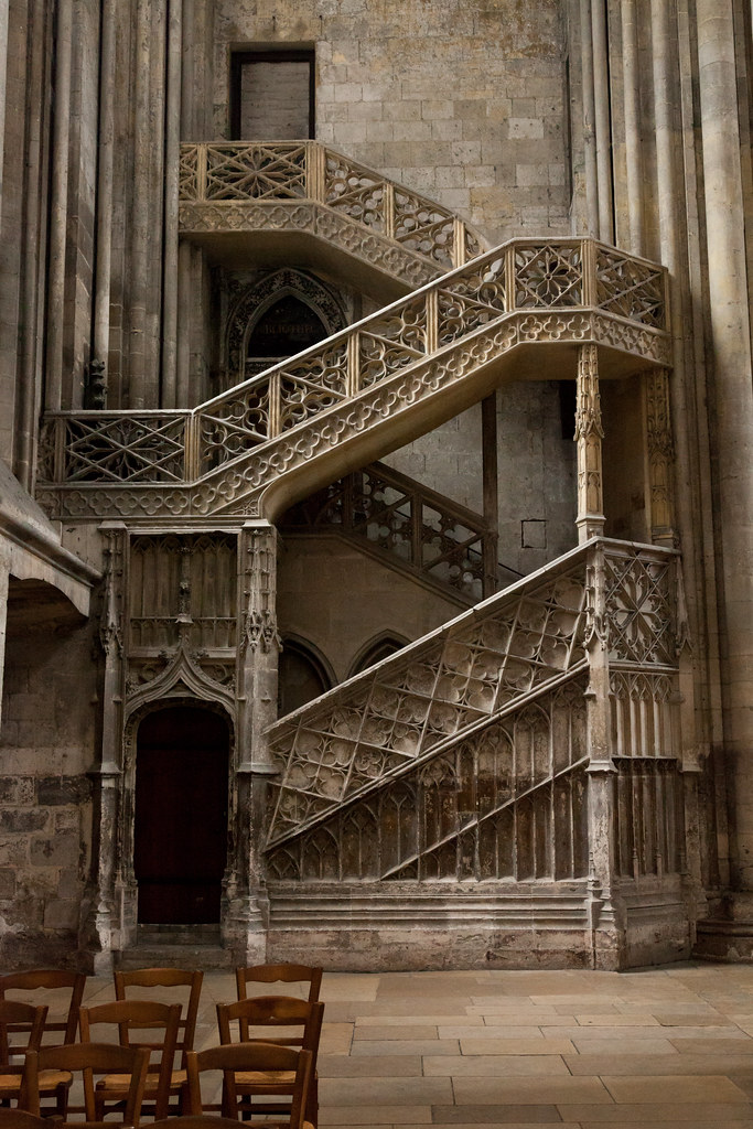 ... Library Staircase | Rouen Cathedral | Rouen 4 | By Paul Dykes