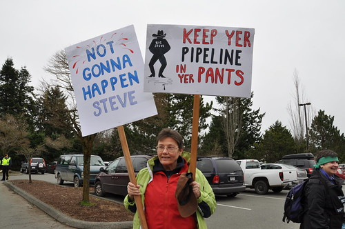 """No to Enbridge"" Pipeline Rally 