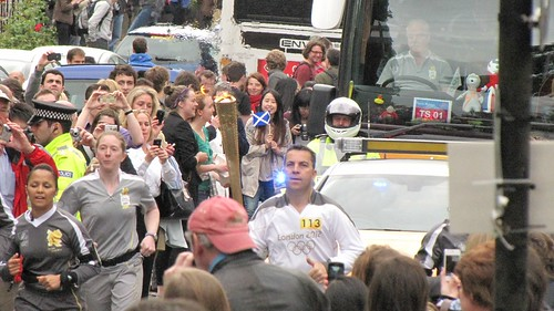 Olympic Torch Bearer on University Avenue | by Jani Helle