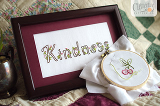 Kindness Embroidery by Clementine Patterns | by Simply Vintagegirl