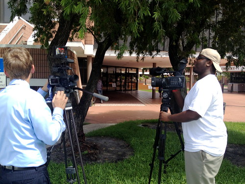 City of Riviera Beach recording media interviews | by WPTVContact5