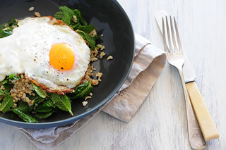 w5 tabbouleh fried eggs | by jules:stonesoup