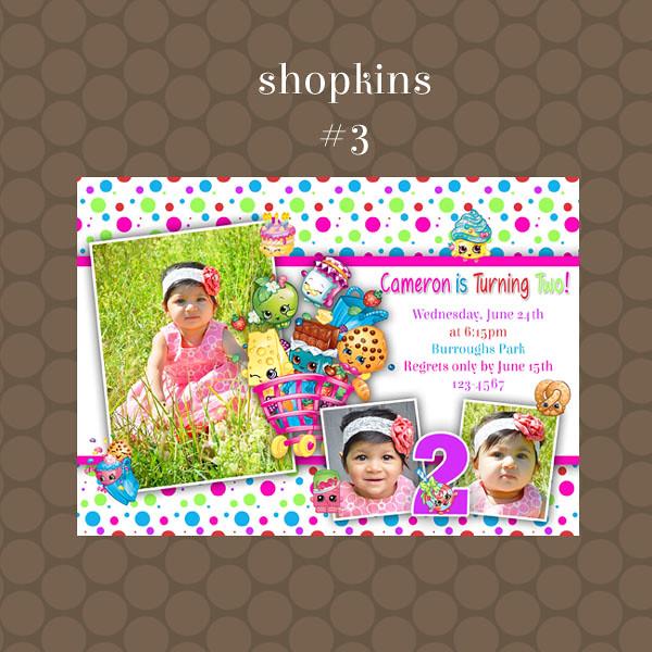 Shopkins Birthday Invitations Supplies   By KDesigns2006 Shopkins Birthday  Invitations Supplies   By KDesigns2006