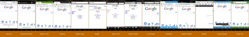 Google rendered on a ton of Android browsers | by Brad Frost