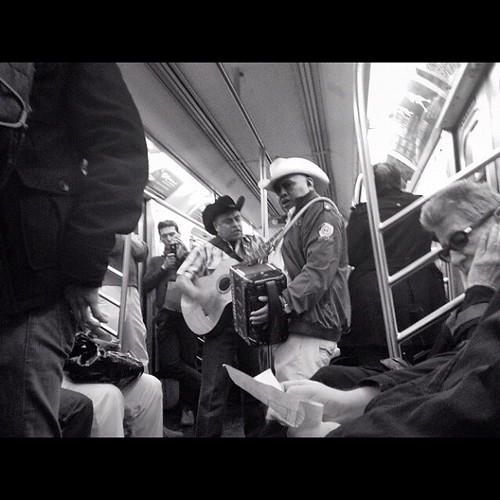 6 Train mariachis, Sunday afternoon, New York City | by pennydelossantos