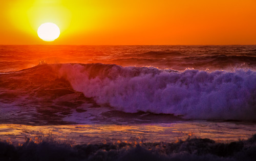 Ocean Beach Waves at Sunset 1 | by Doug Knisely