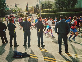 the firemen at the LA Marathon | by bourgeoiswanderlust