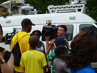 Press abounds in Foley Square | by Health Care For All New York
