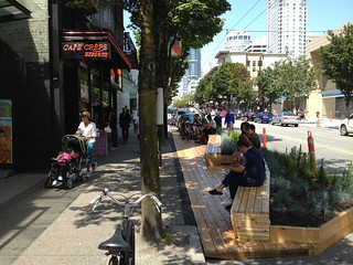 Urban Pasture Parklet on Robson | by Paul Krueger