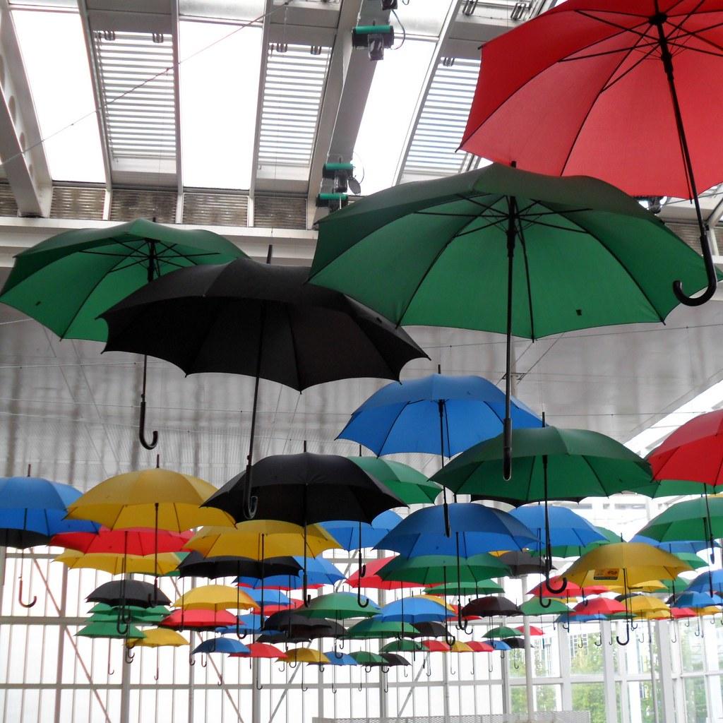Colorful umbrella decoration   Umbrellas in olympic colours …   Flickr