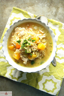 Turkey, Leek and Butternut Squash Noodle Soup | by Heather Christo