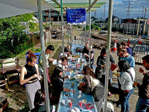 Trade School Class - Making ice cream with dried ice | by Canning Town Caravanserai