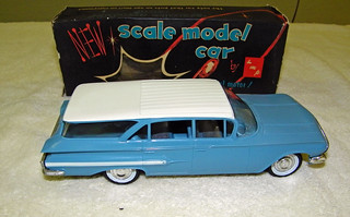 1960 Chevrolet Nomad Station Wagon Promo Model Car - Ermine White over Horizon Blue | by coconv