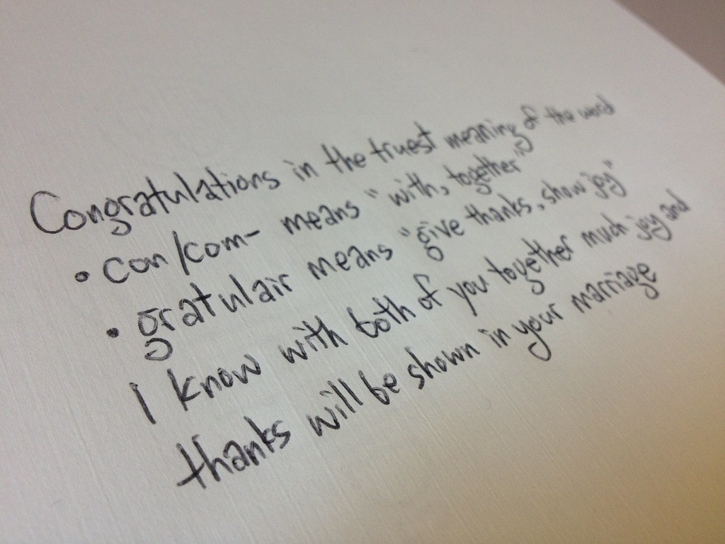 What to write in a wedding card -  Using Congratulations In A Wedding Card Greeting