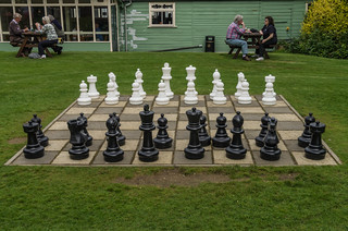 The chess set in the picnic area at Bletchley Park | by Simon Hawketts