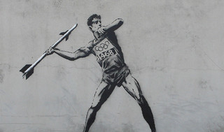 Banksy Olympic Javelin Thrower | by dullhunk