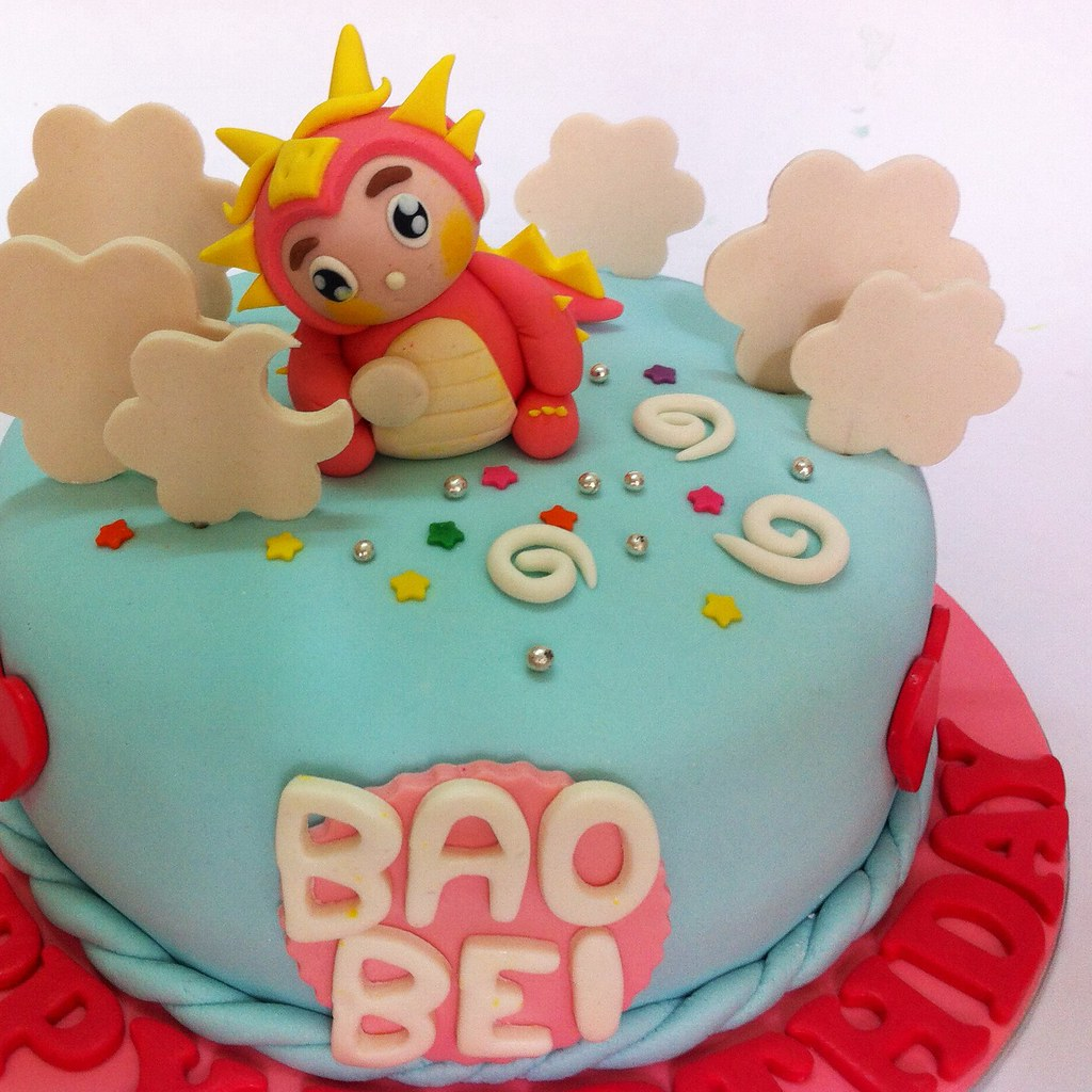 Fondant Dragon Baby By Cakedeliver Free Delivery To Flickr