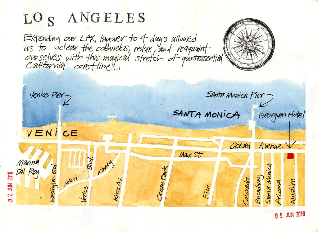 Santa Monica map | Long layover in Los Angeles enroute to Vi… | Flickr