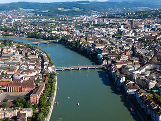 Kite Over Basel Switzerland and the Rhine River | by Wind Watcher