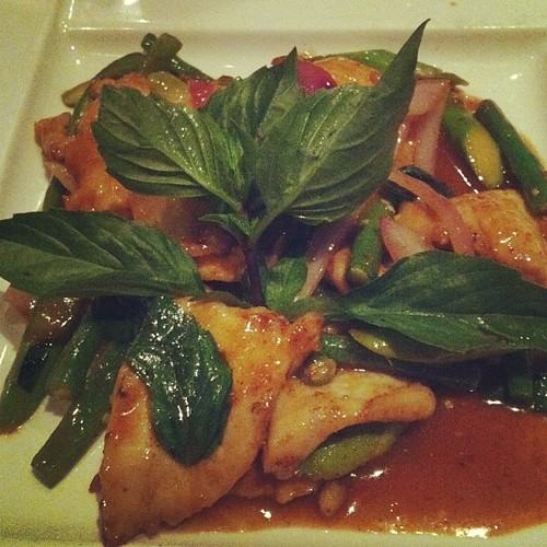 Thai Basil Chicken - the spiciest dish I've ever had #newyork #HellsKitchen #NYC #food | by Marilyn P Sushi