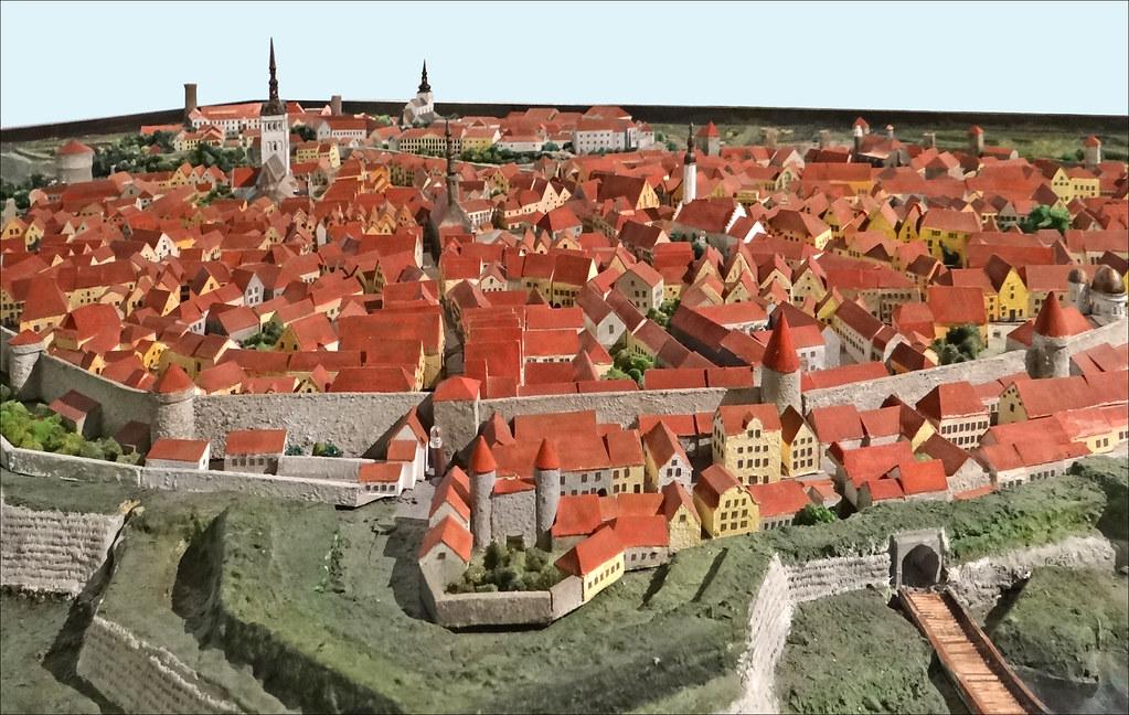 Maquette de la ville (Musée de la ville de Tallinn) - Photo de Jean-Pierre Dalbéra