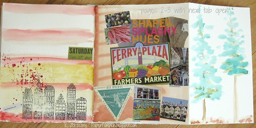 Travel Journal pgs 2-3 with next tab open | by Kathryn Zbrzezny