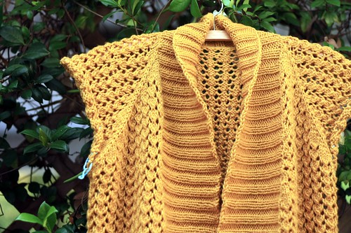 gold cardi | by artsy-crafty babe