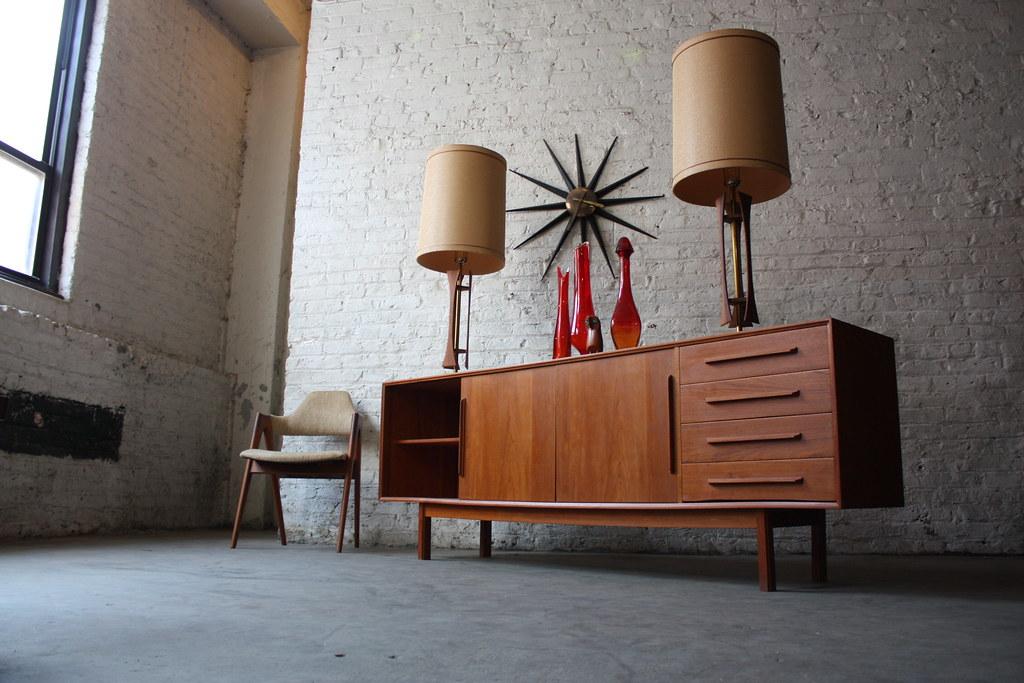 Teak Danish Credenza : Astounding danish mid century modern dyrlund teak credenzau flickr