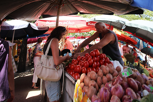 market in trogir | by cyberjani