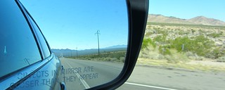 Objects in mirror are closer than they appear | by walkinguphills