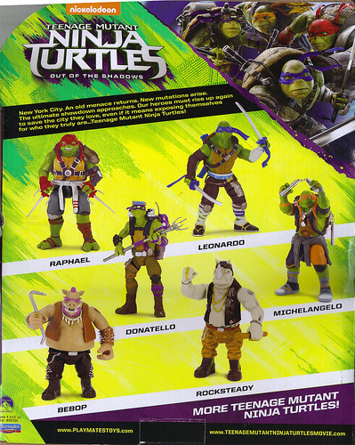 "'TEENAGE MUTANT NINJA TURTLES: OUT OF THE SHADOWS' :: 11"" Movie ROCKSTEADY box ii (( 2016 ))"