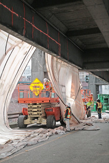 Preparing for tunneling - reinforcing the viaduct | by WSDOT