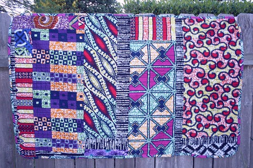 African Wax Print Quilt back | by eli_makes