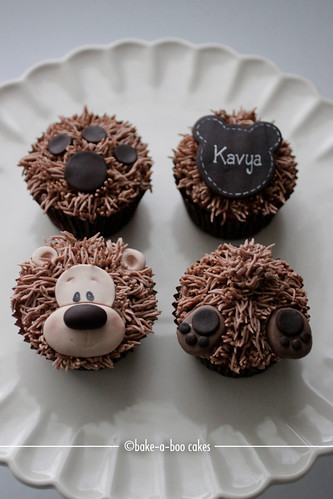 Brown bear cupcakes closed-up | by Bake-a-boo Cakes NZ